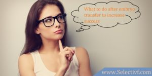 What to do after embryo transfer to increase success