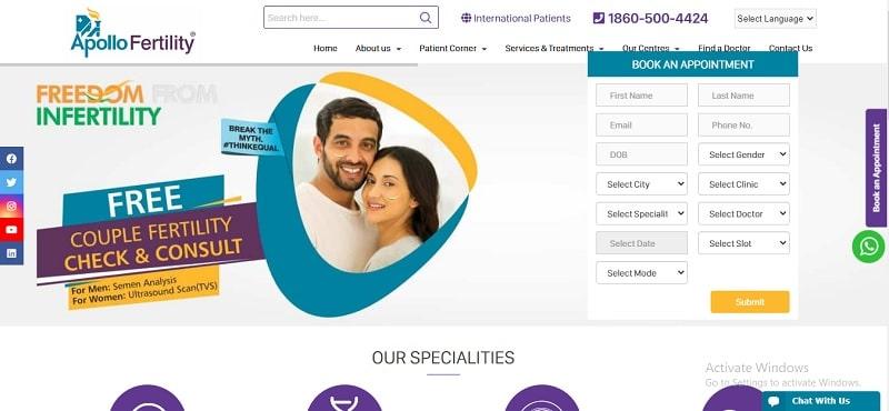 APOLLO FERTILITY CENTRE – The Best Fertility Centre in Chennai